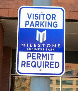 Informational Signs 5b7da569d4963 custom parking outdoor metal traffic sign safety wayfinding 256x300
